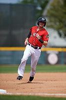 Erie SeaWolves designated hitter Kody Eaves (22) running the bases during a game against the Akron RubberDucks on August 27, 2017 at UPMC Park in Erie, Pennsylvania.  Akron defeated Erie 6-4.  (Mike Janes/Four Seam Images)