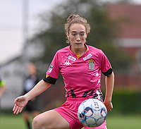 Hanne Hellinx (18) of Sporting Charleroi pictured during a female soccer game between Sporting Charleroi and White Star Woluwe on the first matchday in the 2021 - 2022 season of Belgian Scooore Womens Super League , friday 20 August 2021 in Marcinelle , Belgium . PHOTO SPORTPIX | DAVID CATRY