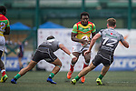 GFI East Africans (in yellow) vs Devils Own Shanghai Rugby (in grey) during GFI HKFC Rugby Tens 2016 on 07 April 2016 at Hong Kong Football Club in Hong Kong, China. Photo by Juan Manuel Serrano / Power Sport Images