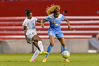 Chicago, IL - Saturday July 30, 2016: Tiffany McCarty, Casey Short during a regular season National Women's Soccer League (NWSL) match between the Chicago Red Stars and FC Kansas City at Toyota Park.