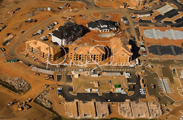 Aerial view of a Charlotte-area construction project.
