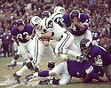 New York Jets Mike Battle (40) during a game against the Minnesota Vikings on November 29, 1970 at Shea Stadium in Flushing, New York. The New York Jets  beat the Minnesota Vikings 20-10.  Mike Battle played for 2 years all with the New York Jets.(SportPics)