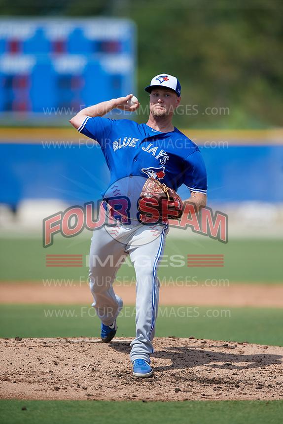 Toronto Blue Jays pitcher Jon Harris (41) during an Instructional League game against the Philadelphia Phillies on September 27, 2019 at Englebert Complex in Dunedin, Florida.  (Mike Janes/Four Seam Images)