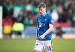 St Johnstone v Celtic…..01.03.20   McDiarmid Park   Scottish Cup Quarter Final<br />A disappointed Jason Kerr at full time<br />Picture by Graeme Hart.<br />Copyright Perthshire Picture Agency<br />Tel: 01738 623350  Mobile: 07990 594431