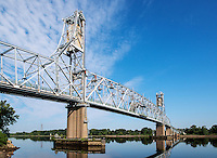 The Burlington–Bristol Bridge is a truss bridge with a lift span crossing the Delaware River from Burlington, New Jersey to Bristol Township, Pennsylvania, USA
