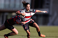 Action from the 2021 Farah Palmer Cup Women's rugby match between Canterbury and Counties Manukau at Rugby Park in Christchurch, New Zealand on Saturday, 17 July 2021. Photo: Martin Hunter / lintottphoto.co.nz