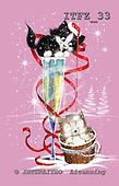 Fabrizio, Comics, CHRISTMAS ANIMALS, paintings, ITFZ33,#xa# Weihnachten, Navidad, illustrations, pinturas