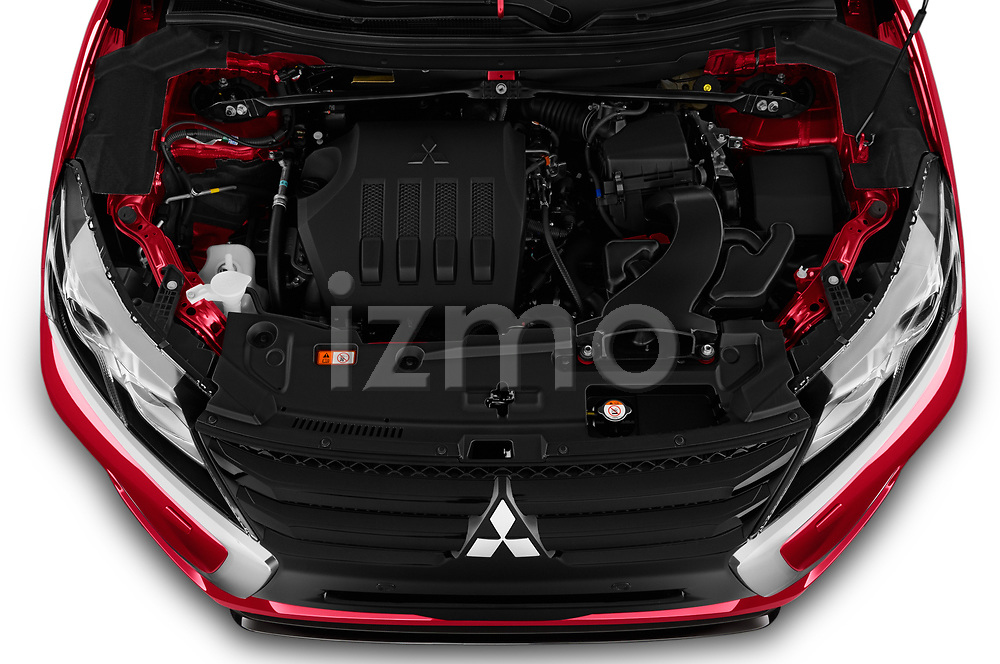 Car Stock 2020 Mitsubishi Eclipse-Cross BLACK-Collection+ 5 Door SUV Engine  high angle detail view