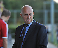 20130830 - VARSENARE , BELGIUM : Ajax coach Ed Engelkes pictured during the female soccer match between Club Brugge Vrouwen and Ajax Amsterdam Dames , of the first matchday in the BENELEAGUE competition. Friday 30 August 2013. PHOTO DAVID CATRY