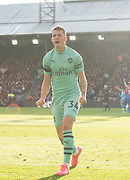Arsenal's Granit Xhaka celebrating his goal during the Premier League match between Crystal Palace and Arsenal at Selhurst Park, London, England on 28 October 2018. Photo by Andrew Aleksiejczuk / PRiME Media Images.