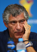 Greece coach Fernando Santos looks on during a press conference ahead of tomorrow's fixture vs Costa Rica
