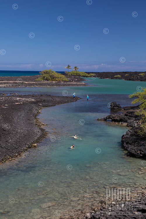 Kiholo Bay, a snorkeling and wildlife viewing area in Kona, Big Island.