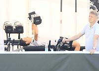 Mesut Oezil (Deutschland Germany) ist verletzt und macht Training im Fitnesszelt - 05.06.2018: Training der Deutschen Nationalmannschaft zur WM-Vorbereitung in der Sportzone Rungg in Eppan/Südtirol