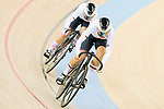 The team of Germany with Kristina Vogel and Miriam Welte competes in Women's Team Sprint  Final match as part of the 2017 UCI Track Cycling World Championships on 12 April 2017, in Hong Kong Velodrome, Hong Kong, China. Photo by Victor Fraile / Power Sport Images