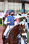 March 27 2021: RB FRYNCHH DUDE (US) #12, in the post parade for the Dubai Kahayla Classic at Meydan Racecourse, Dubai, UAE. Shamela Hanley/Eclipse Sportswire/CSM