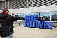 Harrison, NJ - Sunday March 04, 2018: Fans during a 2018 SheBelieves Cup match match between the women's national teams of the United States (USA) and France (FRA) at Red Bull Arena.