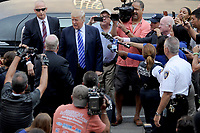 NEW YORK, NY - AUGUST 17: Republican Presidential hopeful Donald Trump arrives at Manhattan Supreme Court to report for jury duty on August 17, 2015 in New York City. Trump spent the last few days on the campaign trail at the Iowa state fair before returning to New York to perform the civic duty. <br /> <br /> <br /> People:  Donald Trump