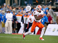 SAN FRANCISCO, CA - December 31, 2011: Illinois wide receiver J.K. Jenkins (8) scores a touchdown agains UCLA at AT&T Park in San Francisco, California. Final score Illinois wins 20-14.