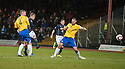 Dundee's Jim McAlister scores their goal.