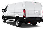 Car pictures of rear three quarter view of a 2019 Ford Transit Van 250 LR 4 Door Cargo Van angular rear