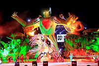 Em uma noite especial em meio ao calor tipicamente amazônico nesta época do ano, a Festa do Çairé, realizada na Vila Balneária de Alter do Chão, a 30 km de Santarém, na região oeste do Pará, chegou a um dos momentos mais esperados pelo público: a disputa entre os Botos Tucuxi (foto) e Cor de Rosa, que animou quase 10 mil pessoas na estrutura montada no Lago dos Botos. O embate entre os dois maiores símbolos da região começou em 1997 e na edição deste ano eles travaram um duelo acirrado em busca do desempate. <br /> <br /> FOTO: WILLIAM SANTOS<br /> DATA: 23.09.2017<br /> SANTARÉM - PARÁ
