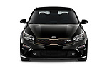 Car photography straight front view of a 2021 KIA Forte GT 4 Door Sedan Front View