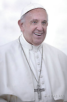 Pope Francis during of a weekly general audience at St Peter's square in Vatican. June 28, 2017