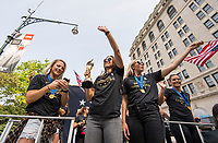 New York, NY - July 10, 2019:  The USWNT celebrated with a ticker tape parade down the Canyon of Heroes followed by a presentation at City Hall.