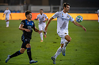 SAN JOSE, CA - SEPTEMBER 13: Cade Cowell #44 of the San Jose Earthquakes and Nick DePuy #20 of the Los Angeles Galaxy during a game between Los Angeles Galaxy and San Jose Earthquakes at Earthquakes Stadium on September 13, 2020 in San Jose, California.