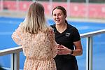 Olivia Shannon interviewed. Hockey Olympic Teams Announcement, National Hockey Centre, Auckland, New Zealand. Thursday 10 June 2021 Photo: Simon Watts/www.bwmedia.co.nz