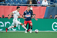 FOXBOROUGH, MA - MAY 1: Erick Torres #31 of Atlanta United FC brings the ball forward during a game between Atlanta United FC and New England Revolution at Gillette Stadium on May 1, 2021 in Foxborough, Massachusetts.