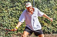 Hilversum, The Netherlands, September 2, 2018,  Tulip Tennis Center, NKS, National Championships Seniors, Men's 70+ final: Ben de Jel  (NED) <br /> Photo: Tennisimages/Henk Koster