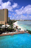 Guam Reef Hotel at beautiful Tumon Bay in Guam USA.