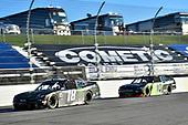 #18: Riley Herbst, Joe Gibbs Racing, Toyota Supra Monster Energy, #10: Ross Chastain, Kaulig Racing, Chevrolet Camaro Nutrien Ag Solutions