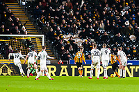 Hull City's forward Nouha Dicko (9) opens the scoring to make it 1 - 0 during the Sky Bet Championship match between Hull City and Sheff United at the KC Stadium, Kingston upon Hull, England on 23 February 2018. Photo by Stephen Buckley / PRiME Media Images.