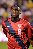 Jozy Altidore (9) of the United States. The men's national team of the United States (USA) was defeated by Ecuador (ECU) 1-0 during an international friendly at Red Bull Arena in Harrison, NJ, on October 11, 2011.