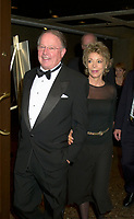 Nov 1, 2002, Montreal, Quebec, Canada<br /> <br /> Bernard Landry, Quebec Premier (L) and his girlfriend  Chantale Renaud arrive at the gala night of the<br /> Association des Medecins de Langue Francaise du Canada<br />  (Canada's French Speaking Doctors' association) which celebrate it's 100 th anniversary,<br /> November 1st, 2002 in MontrÈal, CANADA<br /> <br /> Mandatory Credit: Photo by Pierre Roussel- Images Distribution. (©) Copyright 2002 by Pierre Roussel