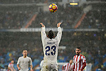 Real Madrid's player Danilo Luiz Da Silva during match of La Liga between Real Madrid and Sporting de Gijon at Santiago Bernabeu Stadium in Madrid, Spain. November 26, 2016. (ALTERPHOTOS/BorjaB.Hojas)