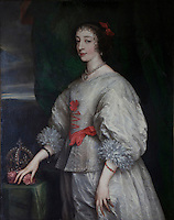 Portrait of Queen Henrietta Maria, Queen Consort to Charles I, from the studio of van Dyke, hangs in the morning room