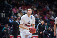 VALENCIA, SPAIN - NOVEMBER 3: Michael Bramos during EUROCUP match between Valencia Basket Club and CAI Zaragozaat Fonteta Stadium on November 3, 2015 in Valencia, Spain