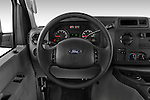 Steering wheel view of a 2009 Ford E 150 Cargovan