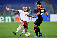 Thibaut Vion of PFS CSKA-Sofia and Henrikh Mkhitaryan of AS Roma compete for the ball during the Europa League Group Stage A football match between AS Roma and CSKA Sofia at stadio olimpico in Roma (Italy), October, 29th, 2020. Photo Andrea Staccioli / Insidefoto