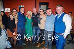 Enjoying the evening the in Turners bar on Saturday, l to r: Levi Ryle, Daniel, Eileen and Jimmy O'Driscoll, Karon and Stephen O'Brien, Jamie Blake