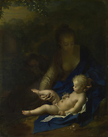 Full title: The Rest on the Flight into Egypt<br /> Artist: Adriaen van der Werff<br /> Date made: 1706<br /> Source: http://www.nationalgalleryimages.co.uk/<br /> Contact: picture.library@nationalgallery.co.uk<br /> <br /> Copyright © The National Gallery, London