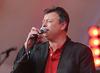 Pictured: James Dean Bradfield of the Manic Street Preachers at the Cardiff City Stadium Friday 08 July 2016<br />