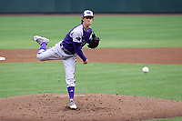 CHAPEL HILL, NC - FEBRUARY 19: Jimmy Curley #25 of High Point University pitches the ball during a game between High Point and North Carolina at Boshamer Stadium on February 19, 2020 in Chapel Hill, North Carolina.