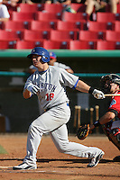 May 16, 2010: Michael Spina of the Stockton Ports during game against the High Desert Mavericks at Mavericks Stadium in Adelanto,CA.  Photo by Larry Goren/Four Seam Images