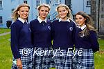 Students graduating from Presentation Secondary School Castleisland on Monday. L to r: Siobhan Brosnan, Lisa Flynn, Laura O'Shea and Caoimhe Horgan