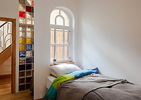 BNPS.co.uk (01202) 558833. <br /> Pic: UniquePropertyCompany/BNPS<br /> <br /> Pictured: Bedroom. <br /> <br /> Haus proud...<br /> <br /> A house designed in German Bavarian style in the south London commuter belt is on the market for £1.1m.<br /> <br /> Holly Lodge, a former pheasant shooting lodge and coaching inn, belonged to an engineer who fell in love with German architecture when he worked in the country.<br /> <br /> He bought and completely redesigned the building in the 1980s.<br /> <br /> The property, which is in the borough of Bromley, has four bedrooms, two bathrooms and two reception rooms.