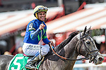 #5 Royale Charlotte wins the Prioress S. (gr 2) ridden by Javier Castellano, trained Chad Brown. Aug 31,2109: during racing at Saratoga Race Course in Saratoga Springs, New York. Robert Simmons/Eclipse Sportswire/CSM